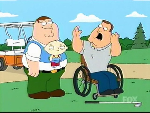 Screen capture from Family Guy-handicap
