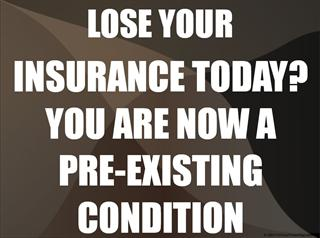 Pre-Existing Condition Protest Sign