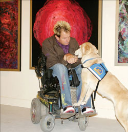 Tommy and Service Dog Hiley
