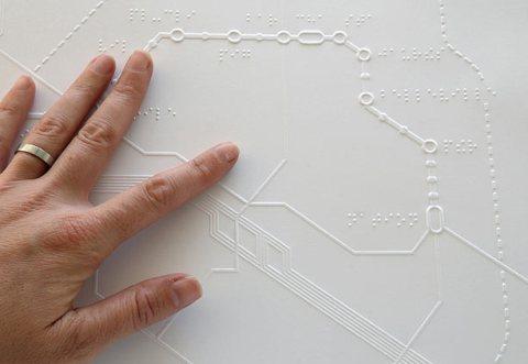 Braille map Paris metro