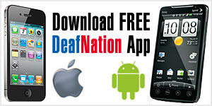 DeafNation app for iPhone and Android