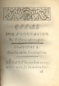 Page from ''Essay on the Education of Blind Children'' by Valentin Hauy