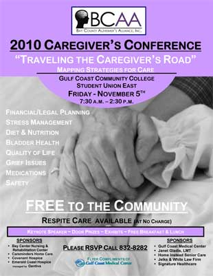 BCAA 2010 Caregiver's Conference flyer