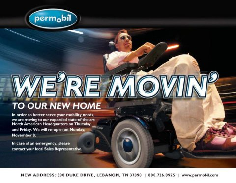 Permobil moving