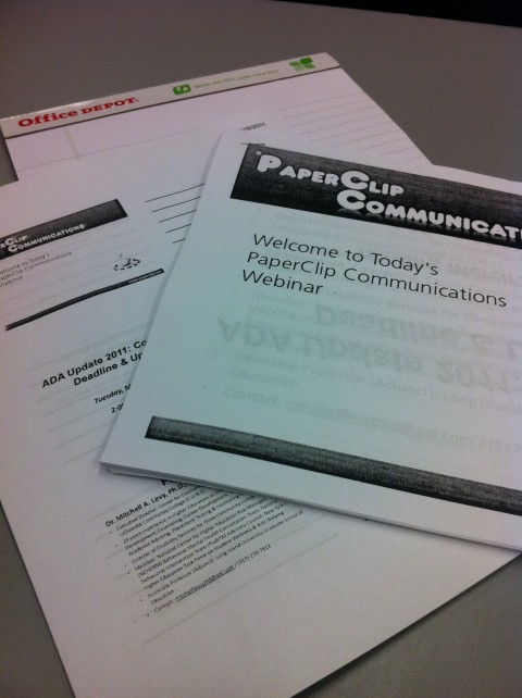 ADA Compliance and Deadlines Handouts