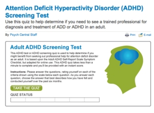 ADHD Screening Test